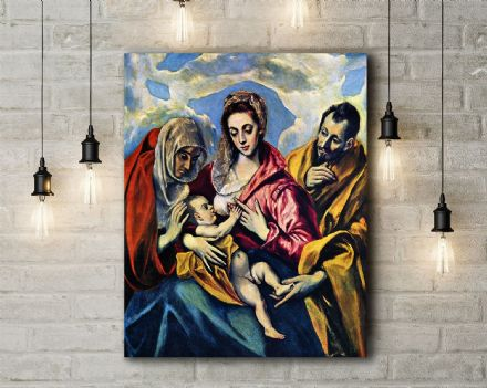 El Greco: The Holy Family. Fine Art Canvas.